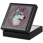 Gray Alaskan Malamute Keepsake Box