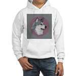 Gray Alaskan Malamute Hooded Sweatshirt