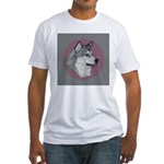 Gray Alaskan Malamute Fitted T-Shirt