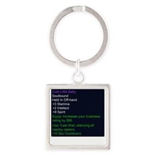 Cute Little Baby Epic Item Square Keychain
