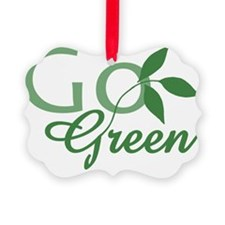 Go Green  leaf design Ornament
