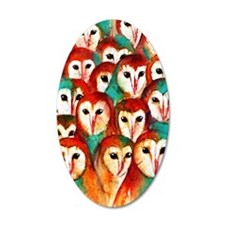 Crowded Owls Wall Decal