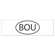 BOU_Oval White Bumper Bumper Sticker