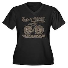 vint-bikead Women's Plus Size Dark V-Neck T-Shirt