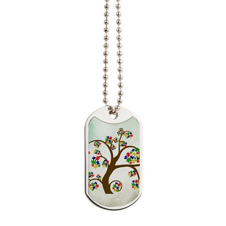 Autism Tree of Life Dog Tag