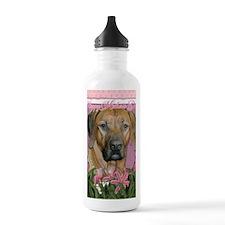 PinkTulipsRhodesianRid Sports Water Bottle