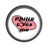 philip loves me  Wall Clock