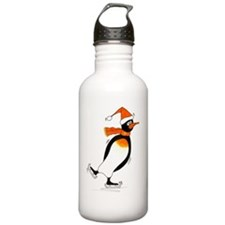 Penguin Skater Sports Water Bottle