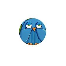 Travel Mug Aqua Owl green Mini Button