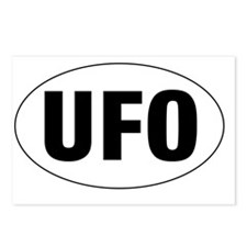 Oval-UFO Postcards (Package of 8)