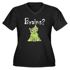 zombie kitty brains Plus Size T-Shirt