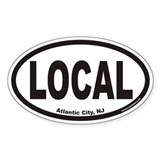 Atlantic City NJ LOCAL Euro Oval Bumper Stickers