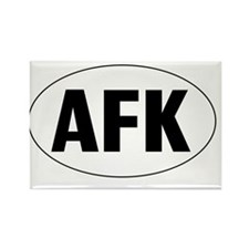 Oval-AFK Rectangle Magnet