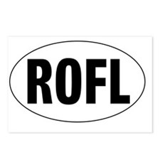 Oval-ROFL Postcards (Package of 8)