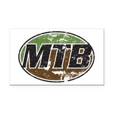 MTB lite Rectangle Car Magnet