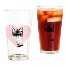 I_love_ragdolls_transparent_white Drinking Glass