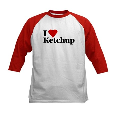 I love ketchup Kids Baseball Jersey