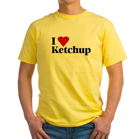 I love ketchup Yellow T-Shirt