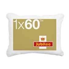 Queens 60th Jubilee Desi Rectangular Canvas Pillow