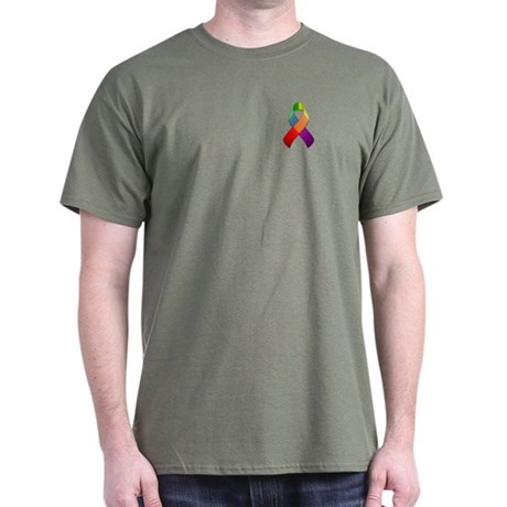 Rainbow Pride II Ribbon Dark T-Shirt