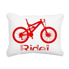 MTB-Ride-Red Rectangular Canvas Pillow