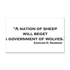 Cute Nation of sheep Rectangle Car Magnet