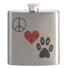 peacelovepaws1 Flask