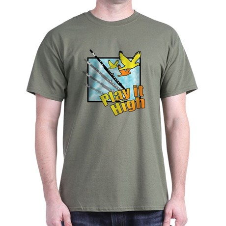 "Flute ""Play it High"" Dark T-Shirt"