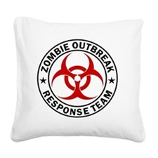 zombie-outbreak-carmagnet Square Canvas Pillow