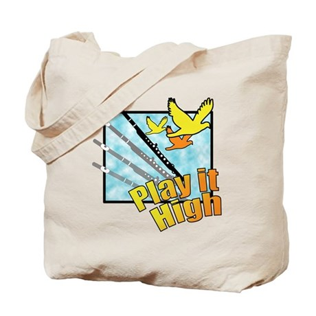 "Flute ""Play it High"" Tote Bag"