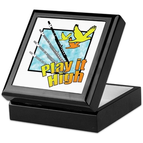 "Flute ""Play it High"" Keepsake Box"