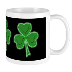 Triple Shamrock (Black Band) Mug