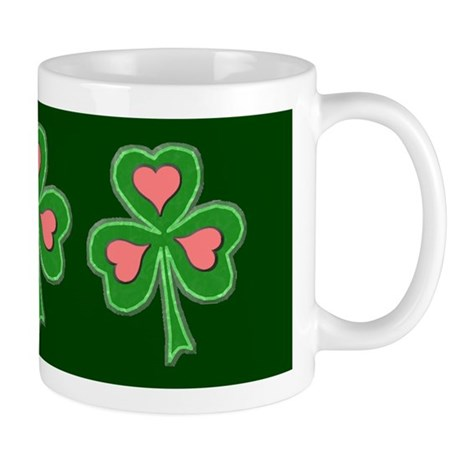 Triple Shamrock (Green Band) Mug