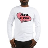 nya loves me Long Sleeve T-Shirt