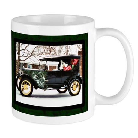 Antique Car Christmas Mug