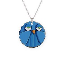 Coin Purse Aqua Owl red Necklace