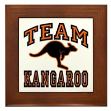 Team Kangaroo Orange Framed Tile