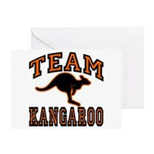 Team Kangaroo Orange Greeting Card