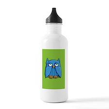 Card Aqua Owl green Water Bottle