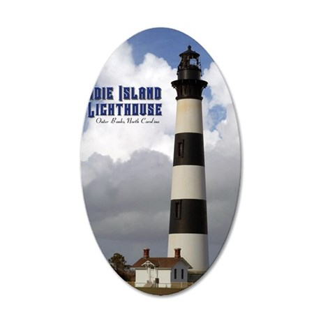 Bodie Island Lighthouse1 35x21 Oval Wall Decal