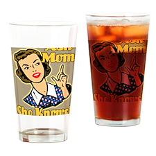 ASK-MOM-9X12-framed-print-temp Drinking Glass