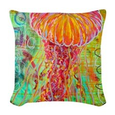 Eye am Jelly Woven Throw Pillow