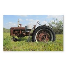 Rusty Tractor Decal