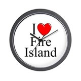 """I Love Fire Island"" Wall Clock"