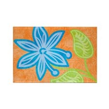 puzzleBlueFlower Rectangle Magnet