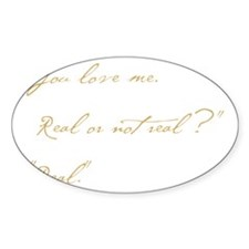 you love me real Decal