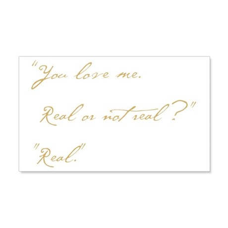 you love me real 20x12 Wall Decal