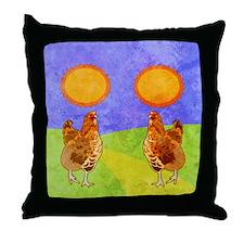 flipFlopsRooster Throw Pillow