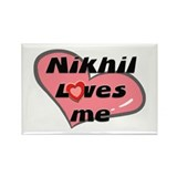 nikhil loves me Rectangle Magnet