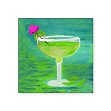 "Margarita Square Sticker 3"" x 3"""